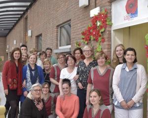 Medewerkers en vrijwilligers van hospice De Klaproos